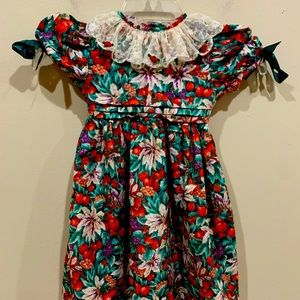Vintage Bonnie Jean Christmas Dress 4T